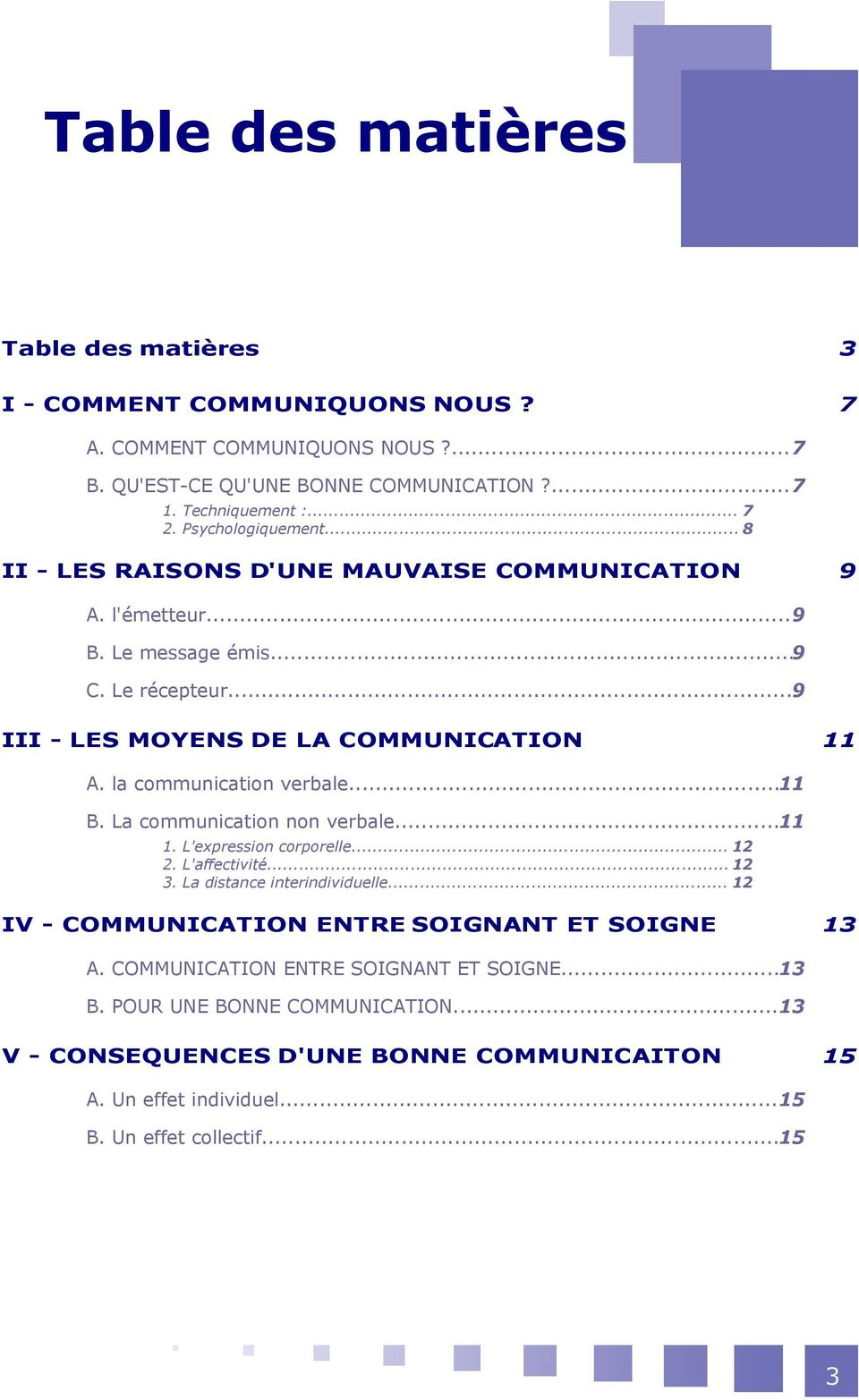 la communication verbale...11 B. La communication non verbale...11 1. L'expression corporelle... 12 2. L'affectivité... 12 3. La distance interindividuelle.
