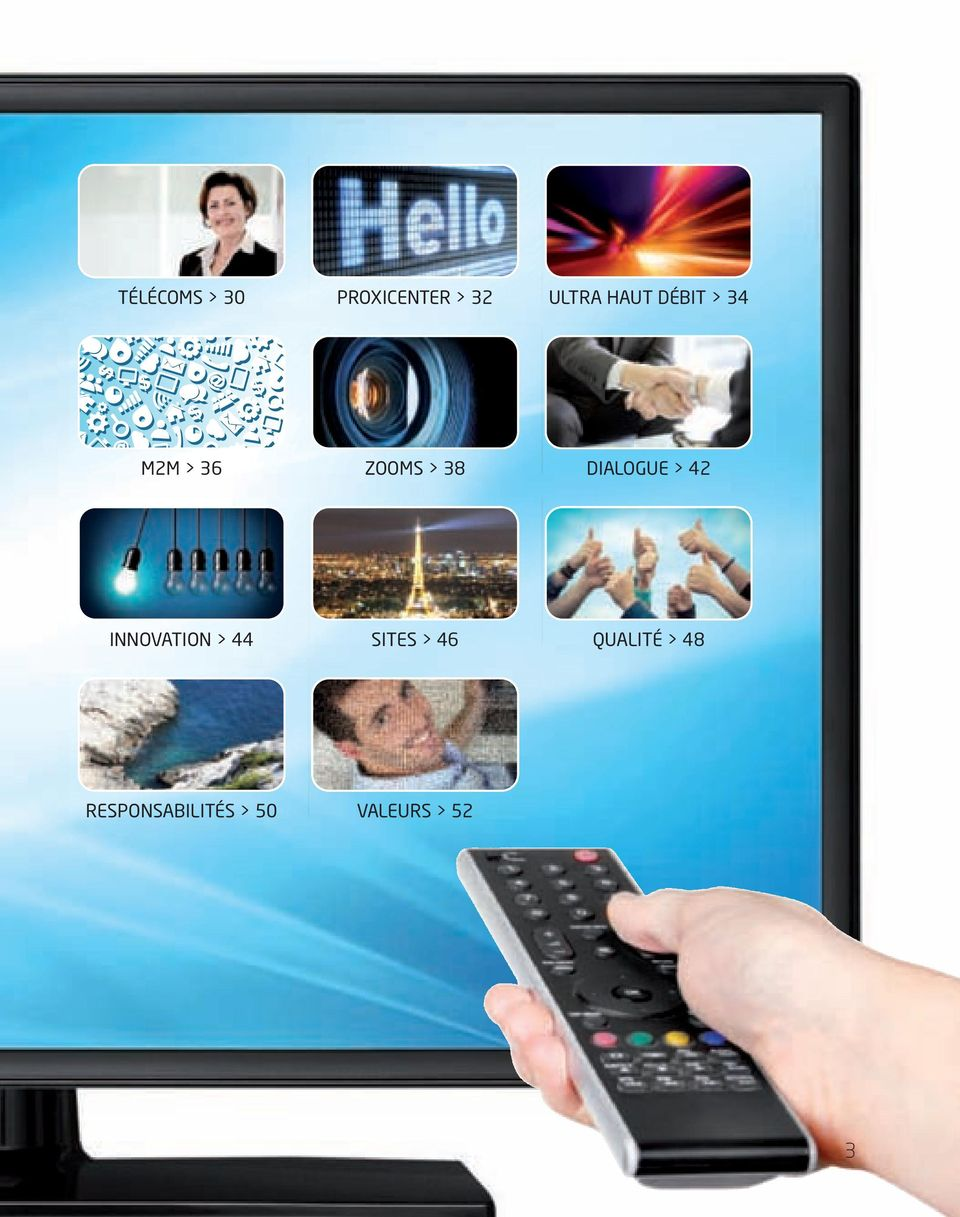 DIALOGUE > 42 INNOVATION > 44 SITES > 46