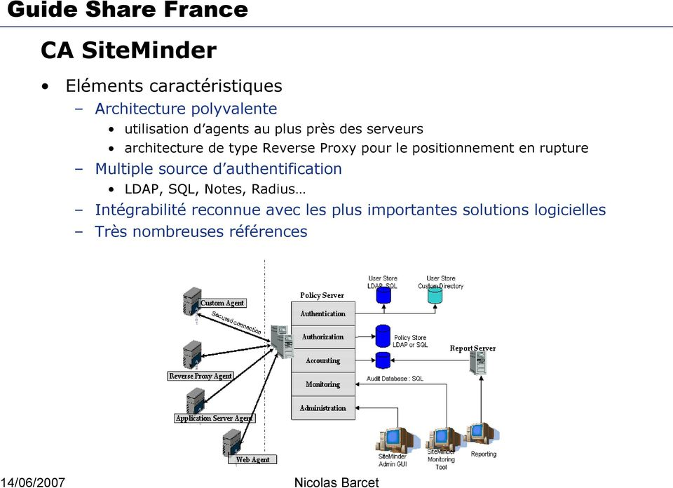 positionnement en rupture Multiple source d authentification LDAP, SQL, Notes,