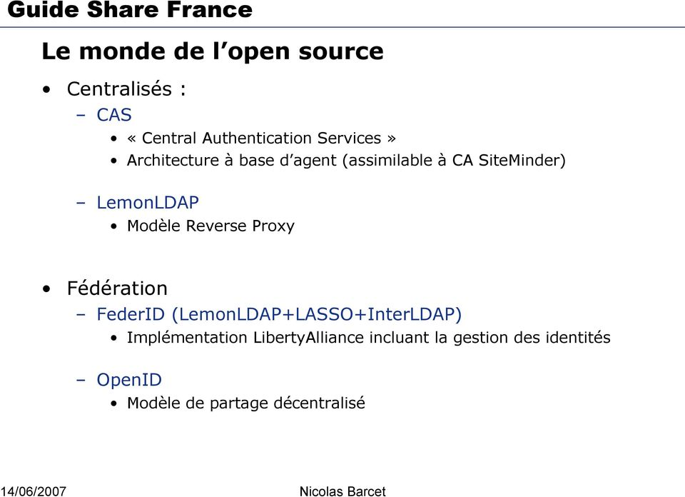 Reverse Proxy Fédération FederID (LemonLDAP+LASSO+InterLDAP) Implémentation