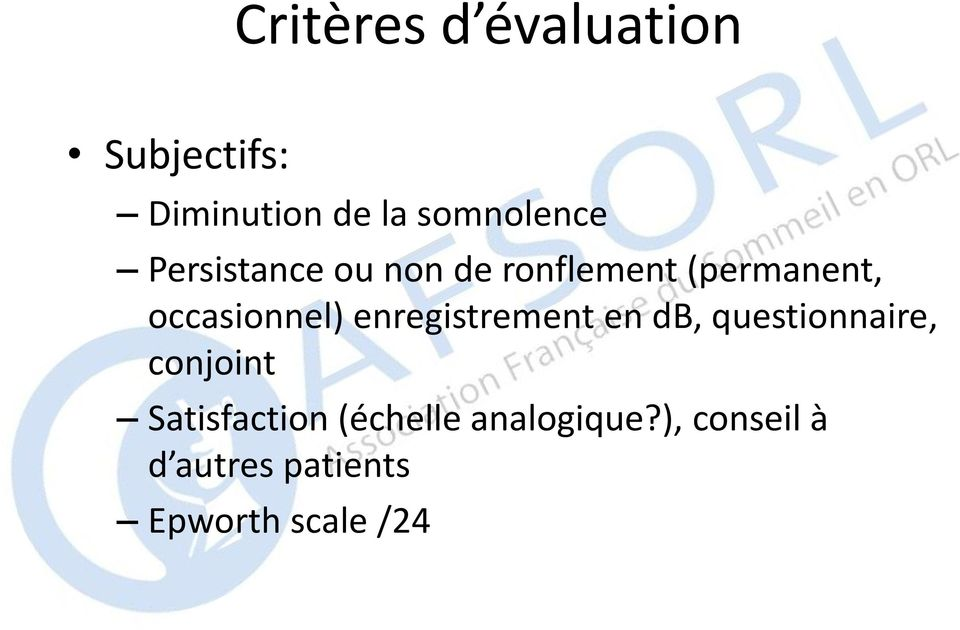 enregistrement en db, questionnaire, conjoint Satisfaction
