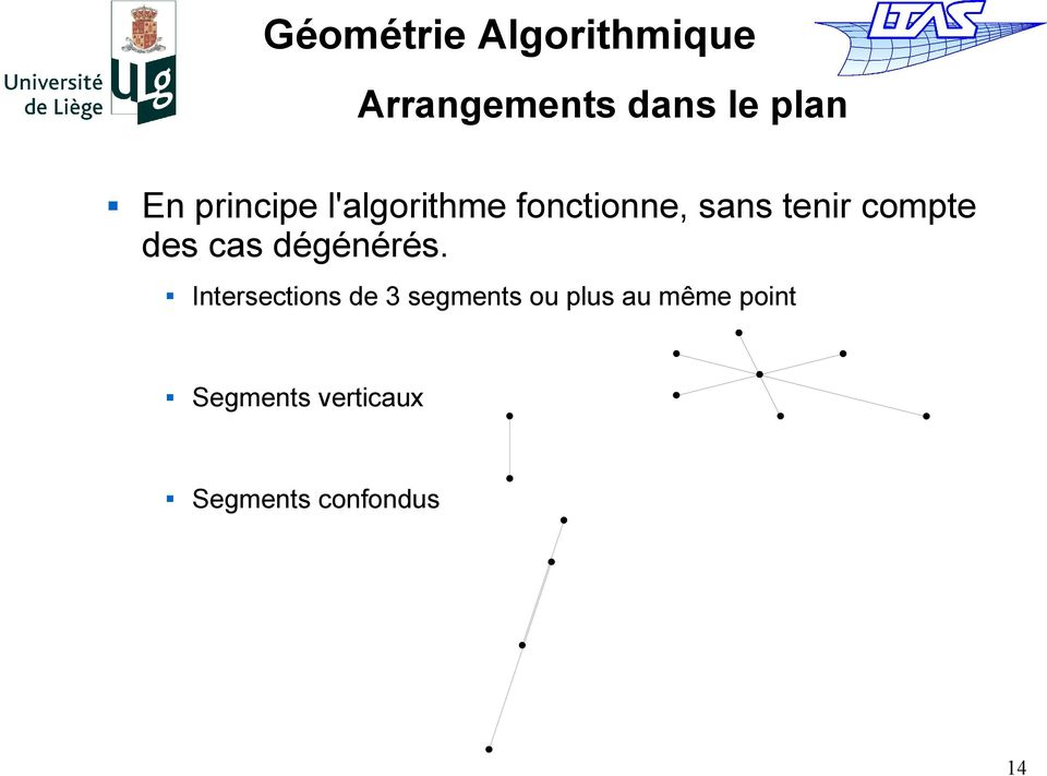 Intersections de 3 segments ou plus au