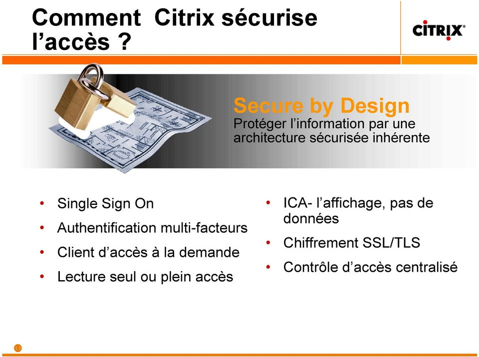 inhérente Single Sign On Authentification multi-facteurs Client d accès à