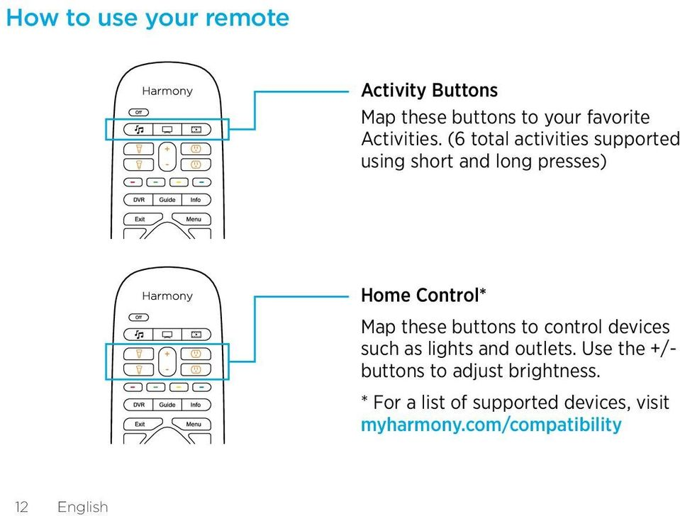 buttons to control devices such as lights and outlets.