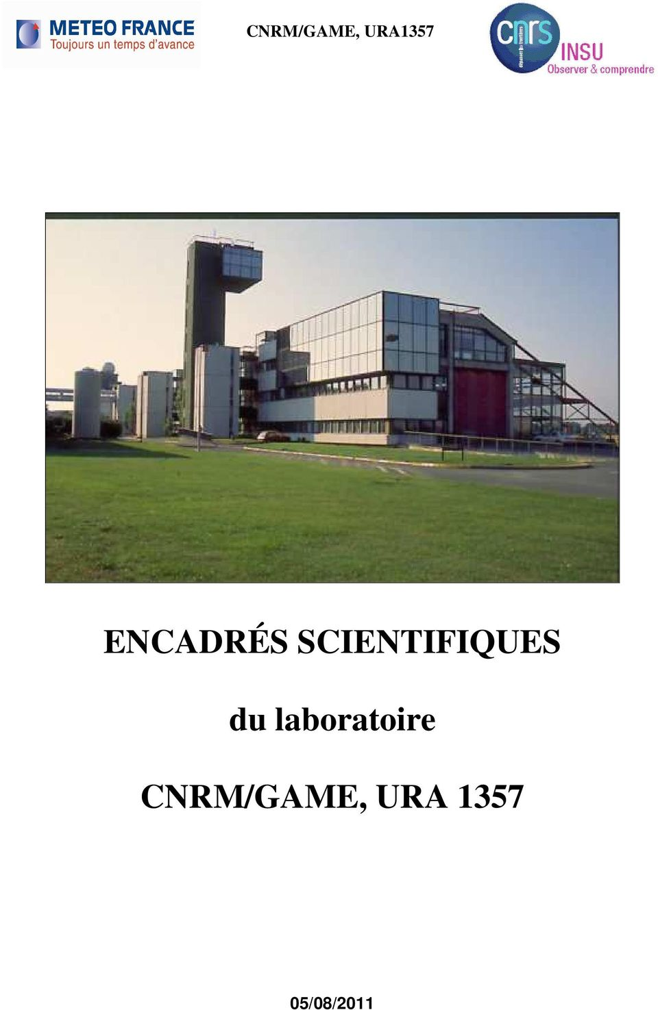 SCIENTIFIQUES du