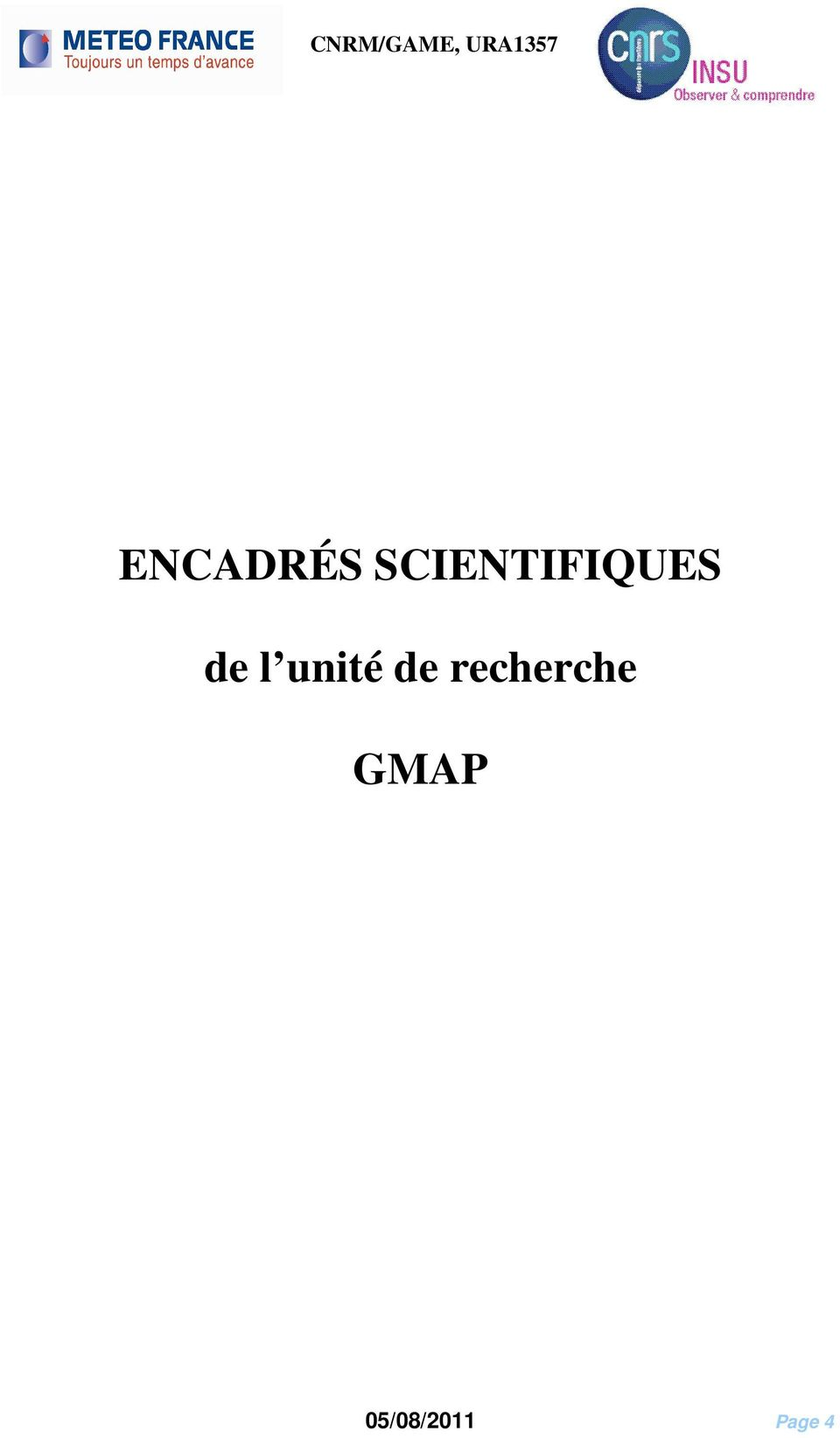 SCIENTIFIQUES de l