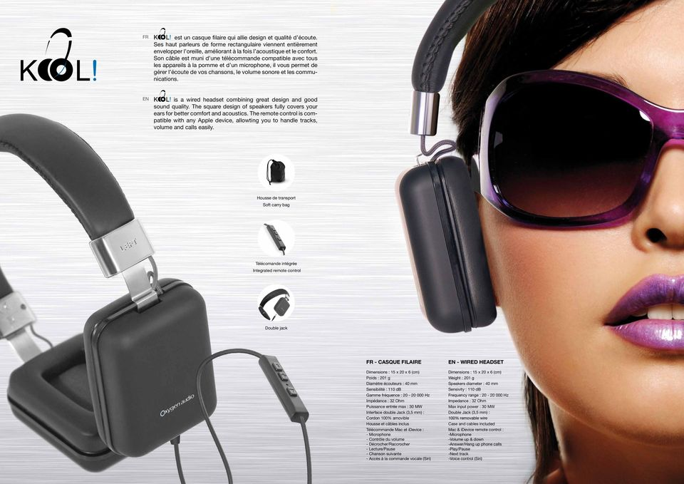 is a wired headset combining great design and good sound quality. The square design of speakers fully covers your ears for better comfort and acoustics.