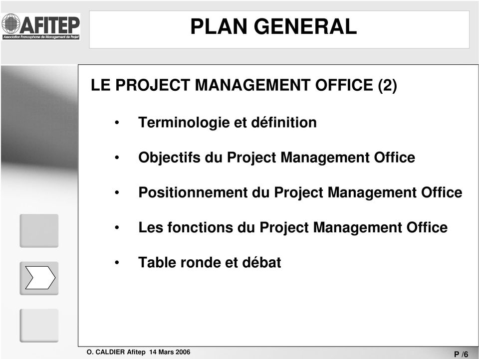 Management Office Positionnement du Project Management