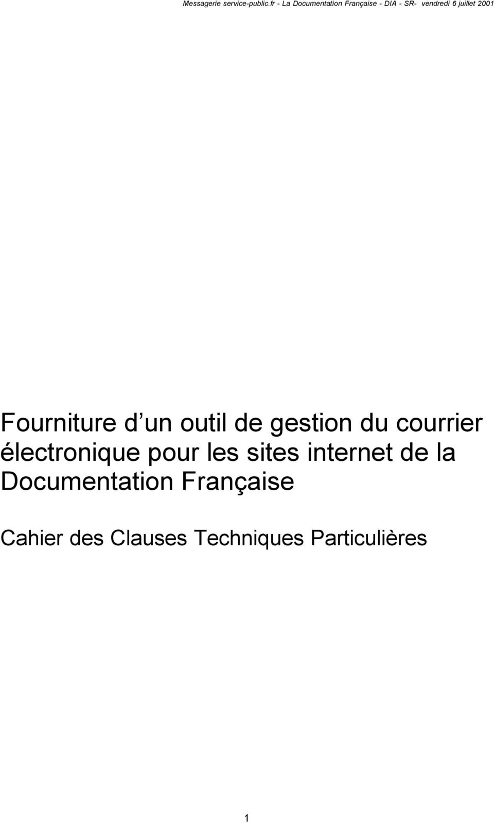 internet de la Documentation Française