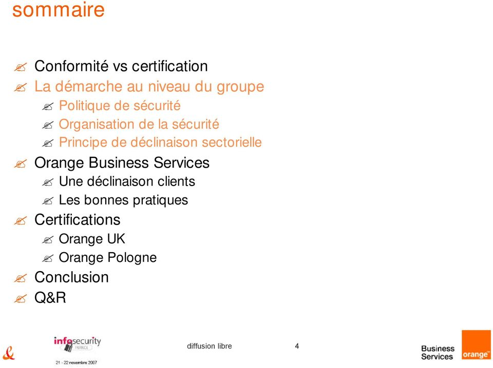 sectorielle Orange Business Services Une déclinaison clients Les bonnes