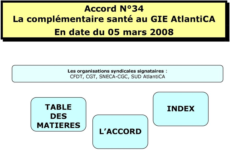 organisations syndicales signataires : CFDT,