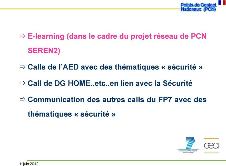 Call de DG HOME..etc.