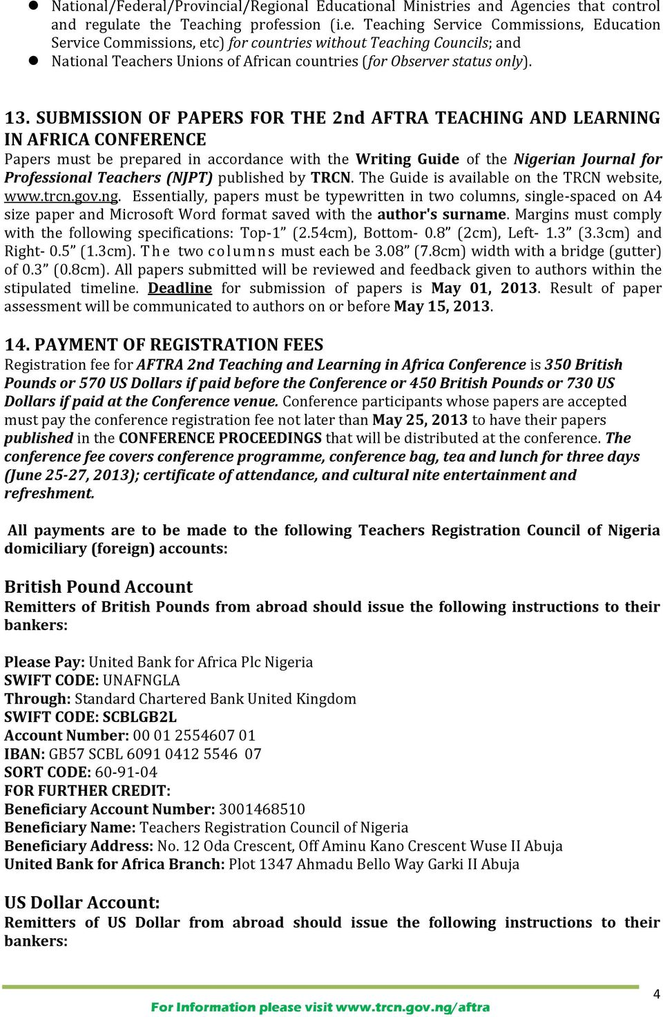 (NJPT) published by TRCN. The Guide is available on the TRCN website, www.trcn.gov.ng.