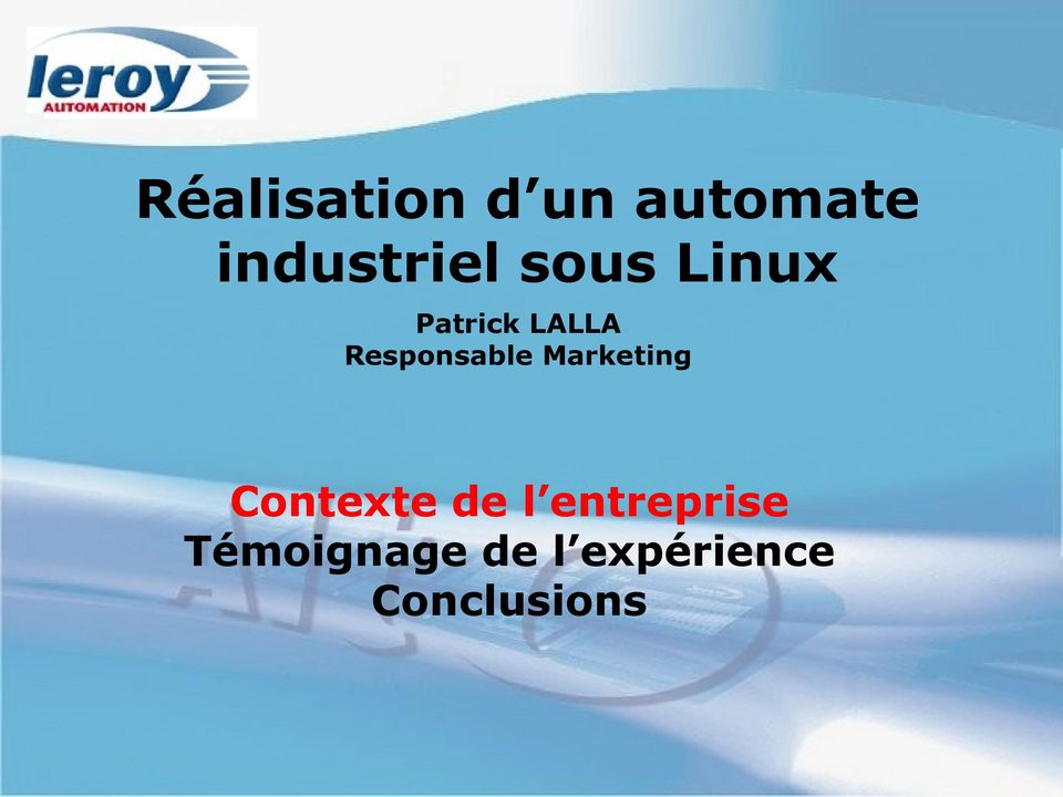 Marketing Contexte de l entreprise