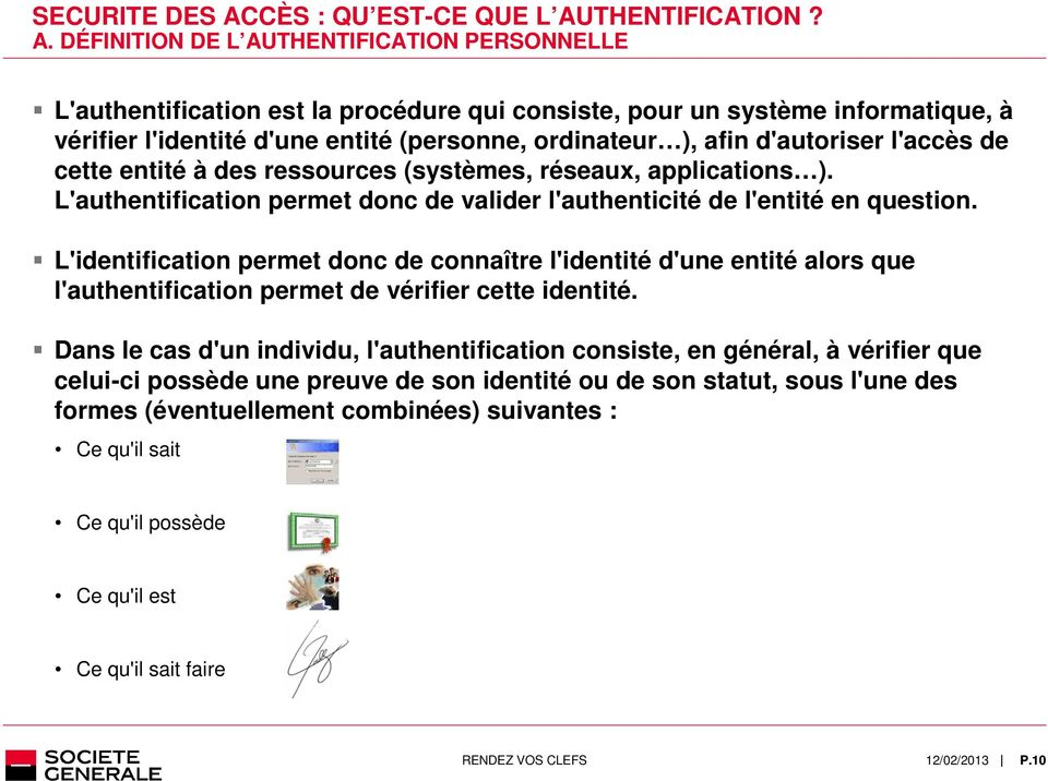 THENTIFICATION? A.