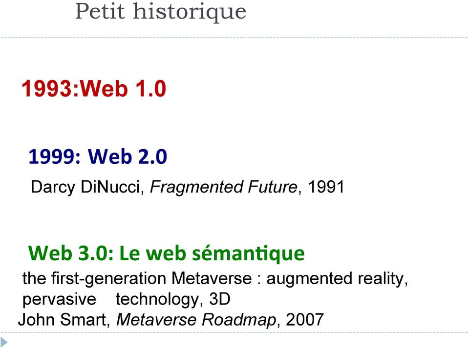 0: Le web séman3que the first-generation Metaverse :