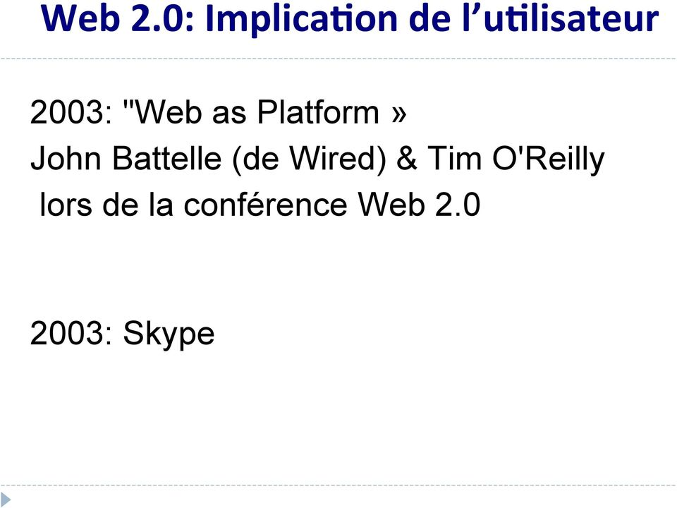 """Web as Platform» John Battelle (de"