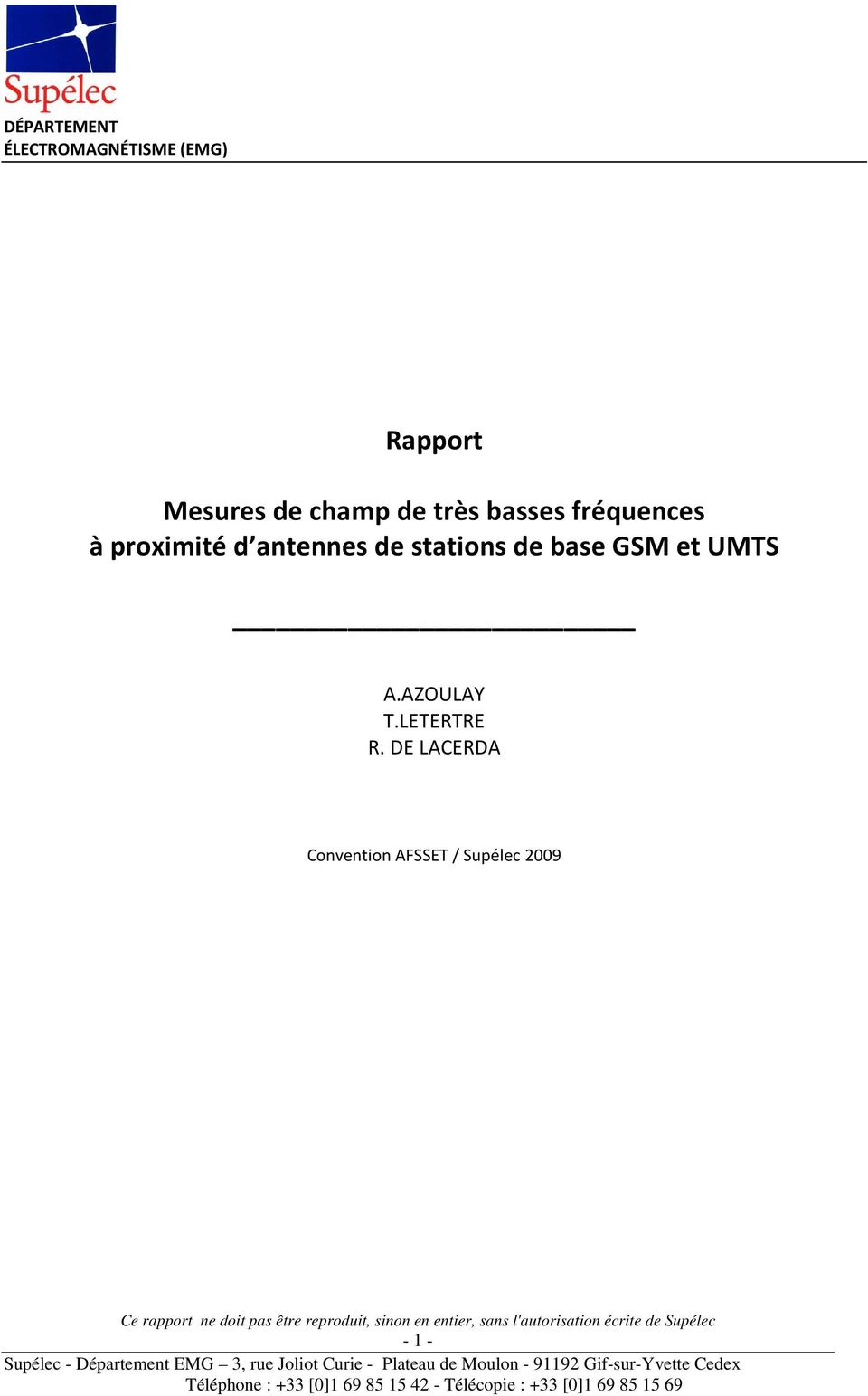 stations de base GSM et UMTS A.AZOULAY T.
