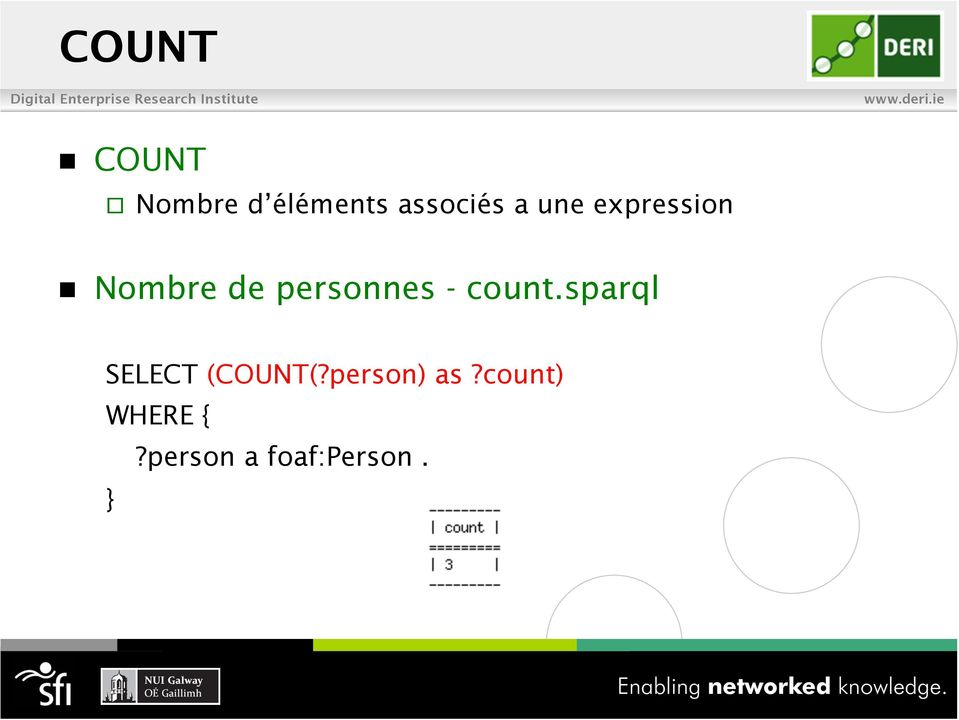 count.sparql SELECT (COUNT(?person) as?