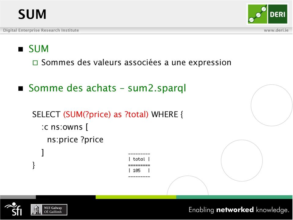 sum2.sparql SELECT (SUM(?price) as?