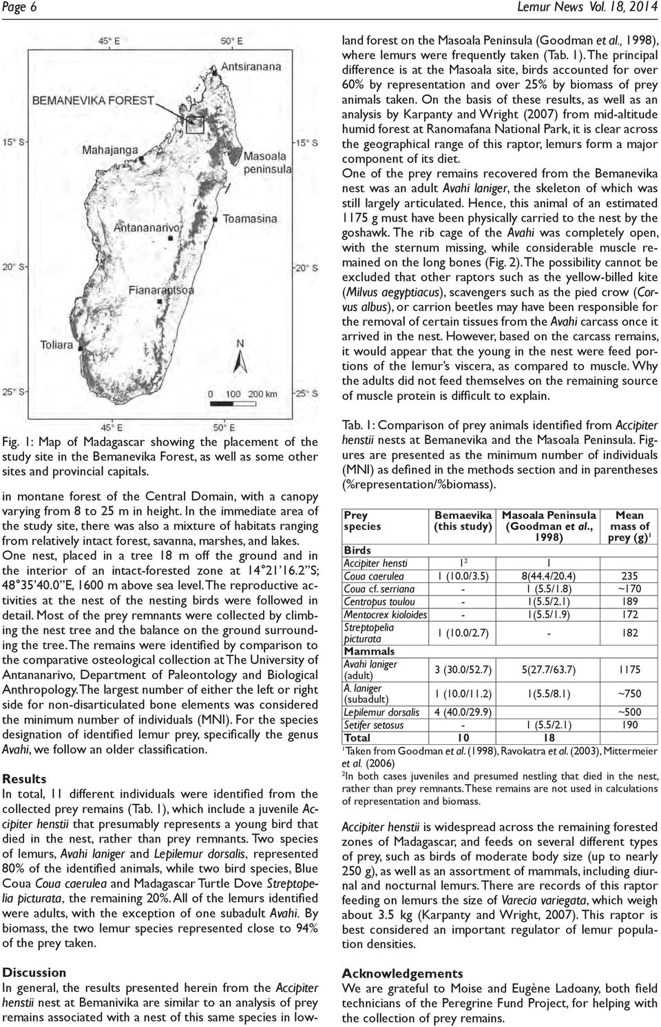 On the basis of these results, as well as an analysis by Karpanty and Wright (2007) from mid-altitude humid forest at Ranomafana National Park, it is clear across the geographical range of this