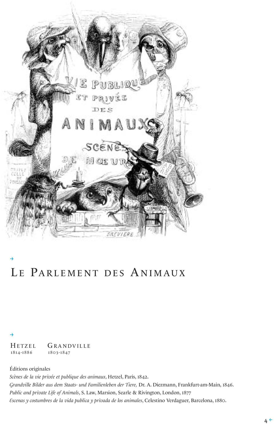 Diezmann, Frankfurt-am-Main, 1846. Public and private Life of Animals, S.