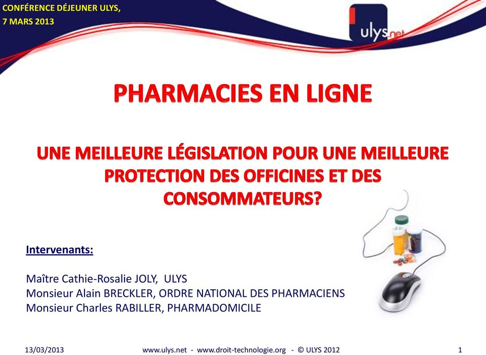 NATIONAL DES PHARMACIENS Monsieur Charles RABILLER,
