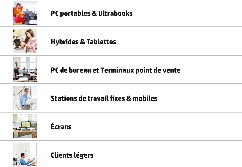 point de vente Stations de travail