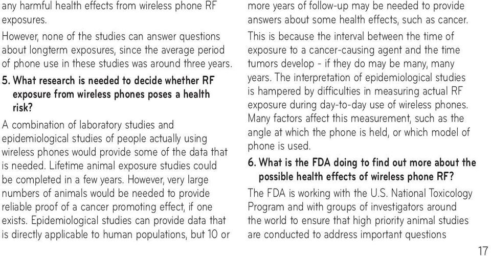 What research is needed to decide whether RF exposure from wireless phones poses a health risk?