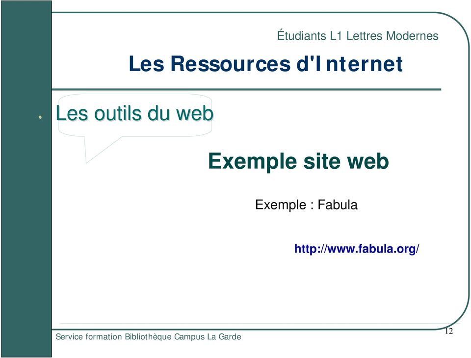 d'internet Exemple site web