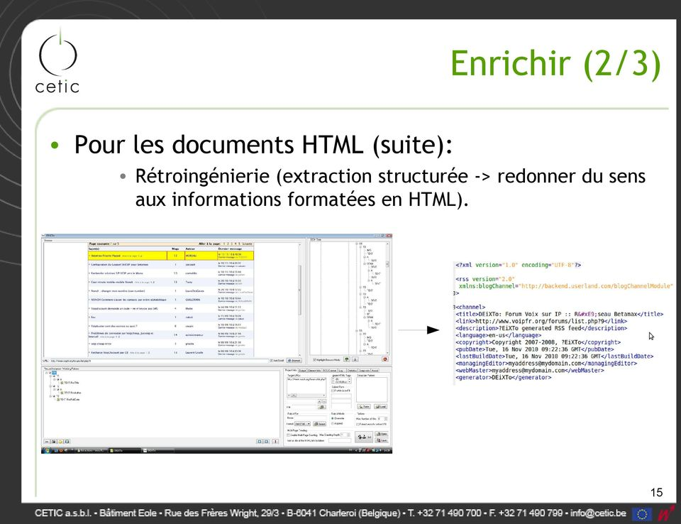 (extraction structurée -> redonner