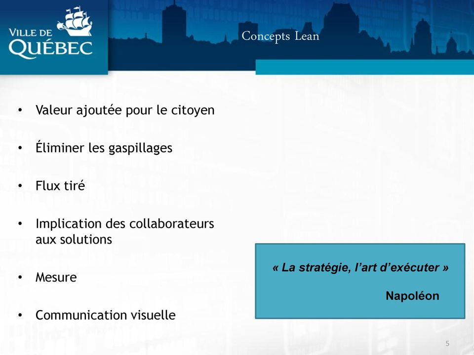des collaborateurs aux solutions Mesure
