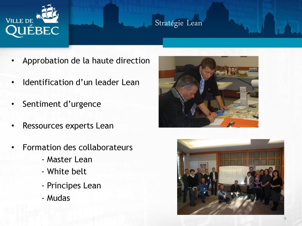 Ressources experts Lean Formation des