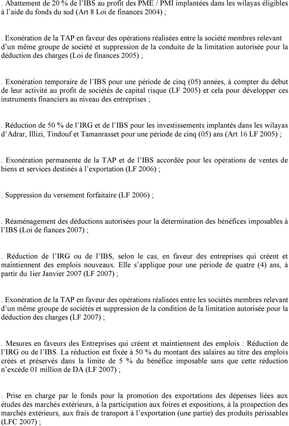 charges (Loi de finances 2005) ;.