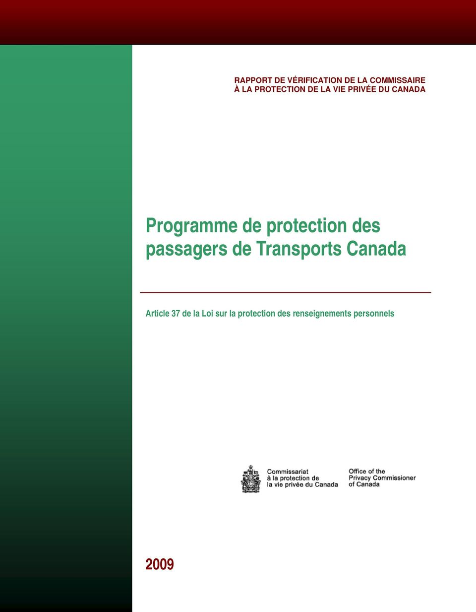 protection des passagers de Transports Canada Article