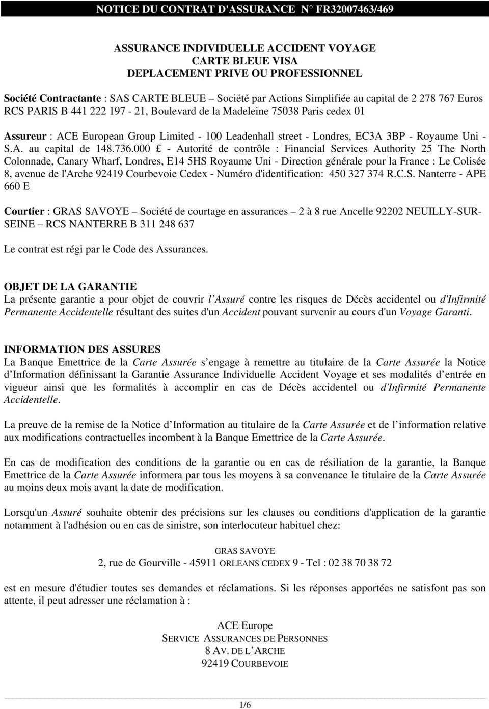 Royaume Uni - S.A. au capital de 148.736.