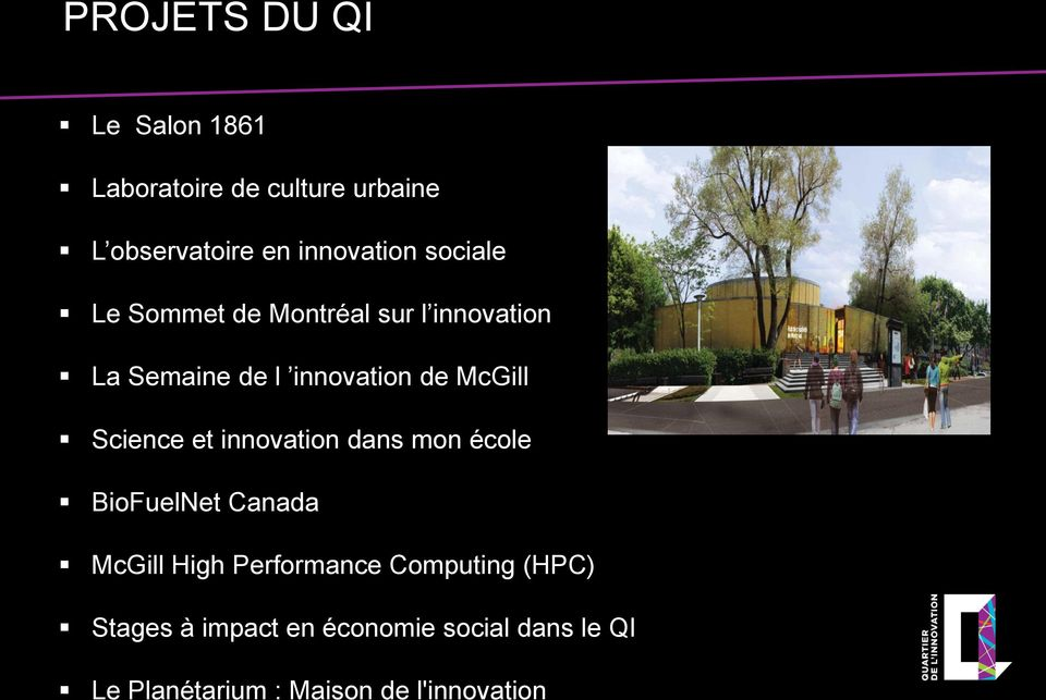 Science et innovation dans mon école BioFuelNet Canada McGill High Performance