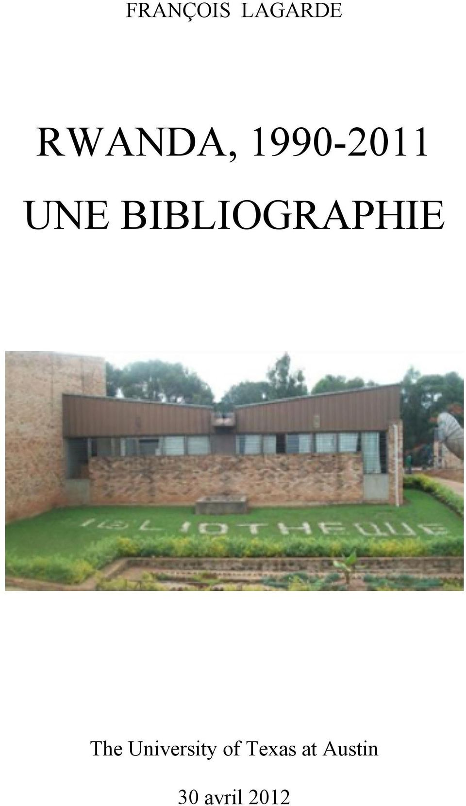 BIBLIOGRAPHIE The