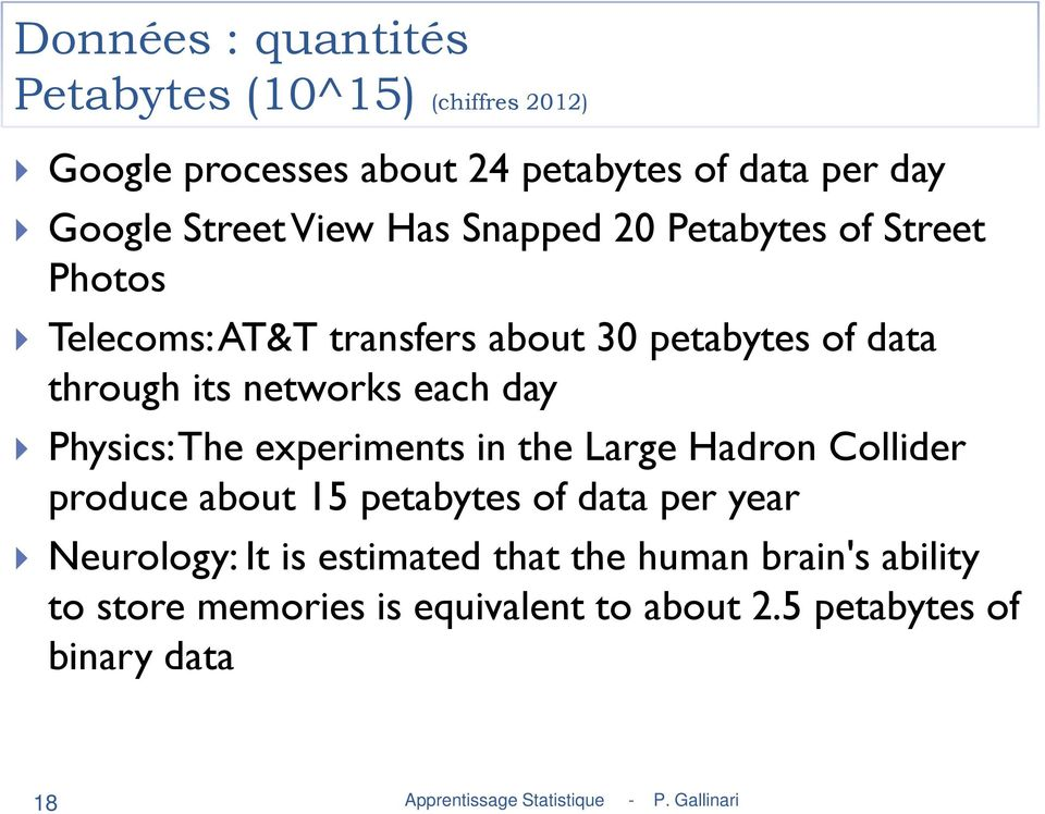 networks each day Physics: The experiments in the Large Hadron Collider produce about 15 petabytes of data per year