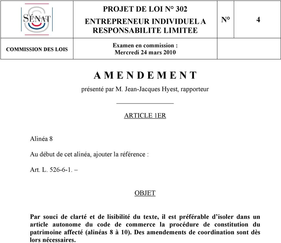 un article autonome du code de commerce la procédure de constitution du