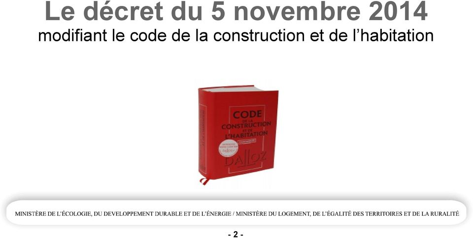 modifiant le code de
