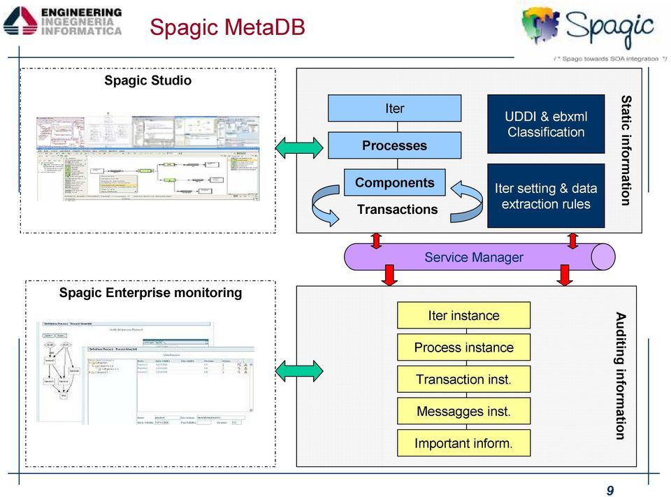 information Manager Spagic Enterprise monitoring Iter instance Process