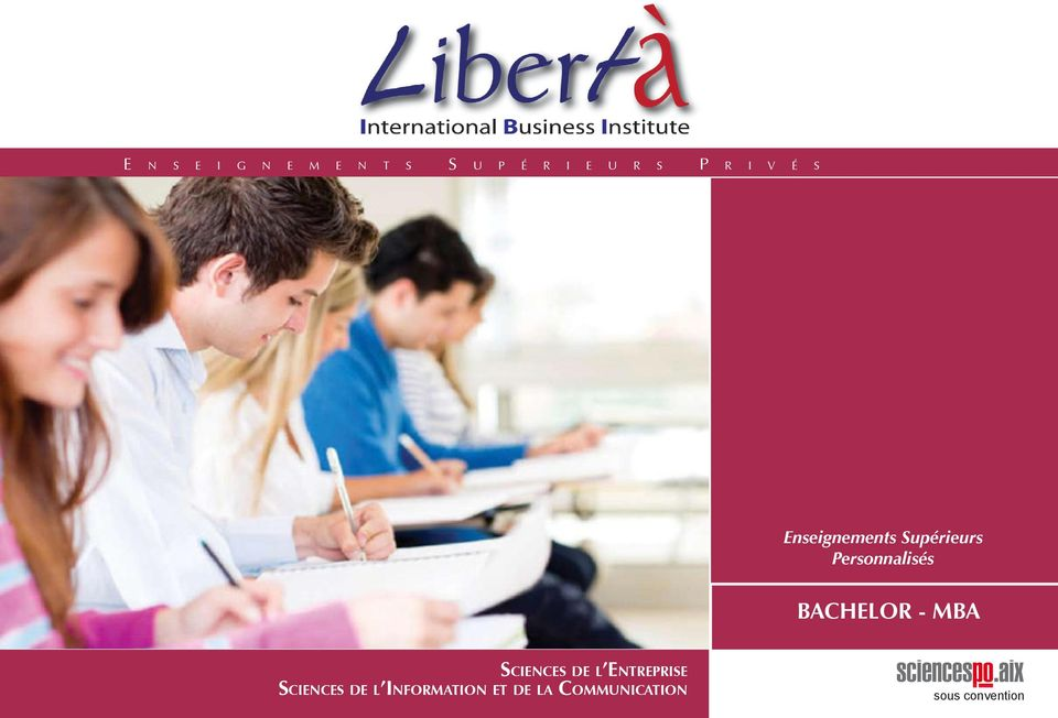 BACHELOR - MBA Sciences de l Entreprise Sciences