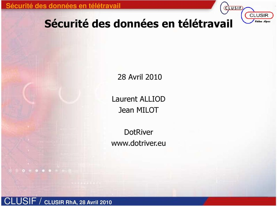 2010 Laurent ALLIOD Jean MILOT