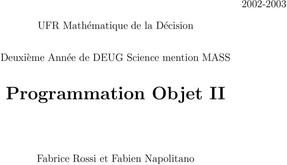 Science mention MASS Programmation