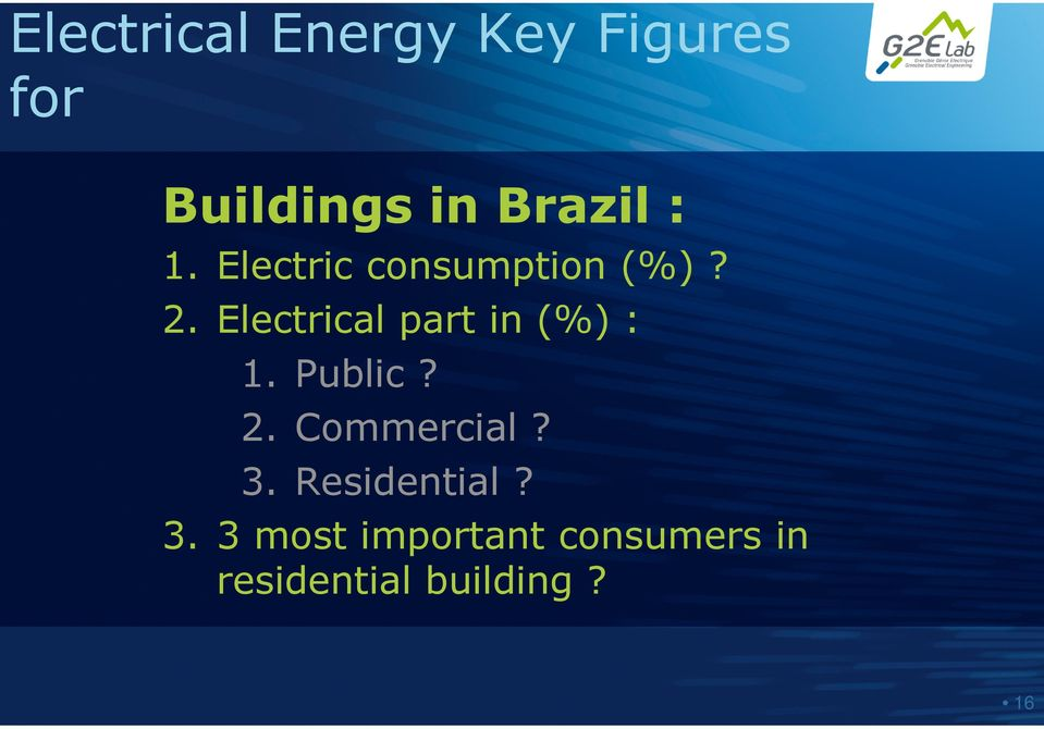 Electrical part in (%) : 1. Public? 2. Commercial? 3.