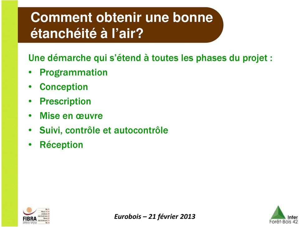 projet : Programmation Conception Prescription
