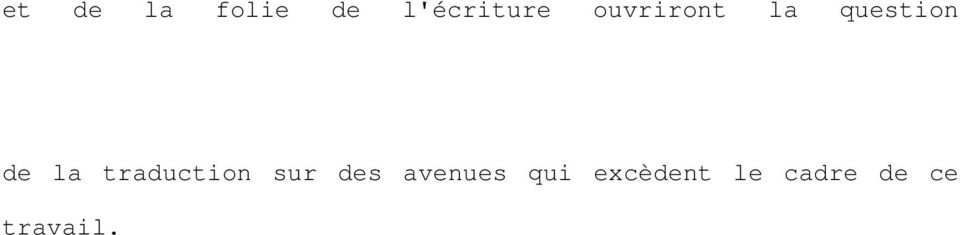 traduction sur des avenues