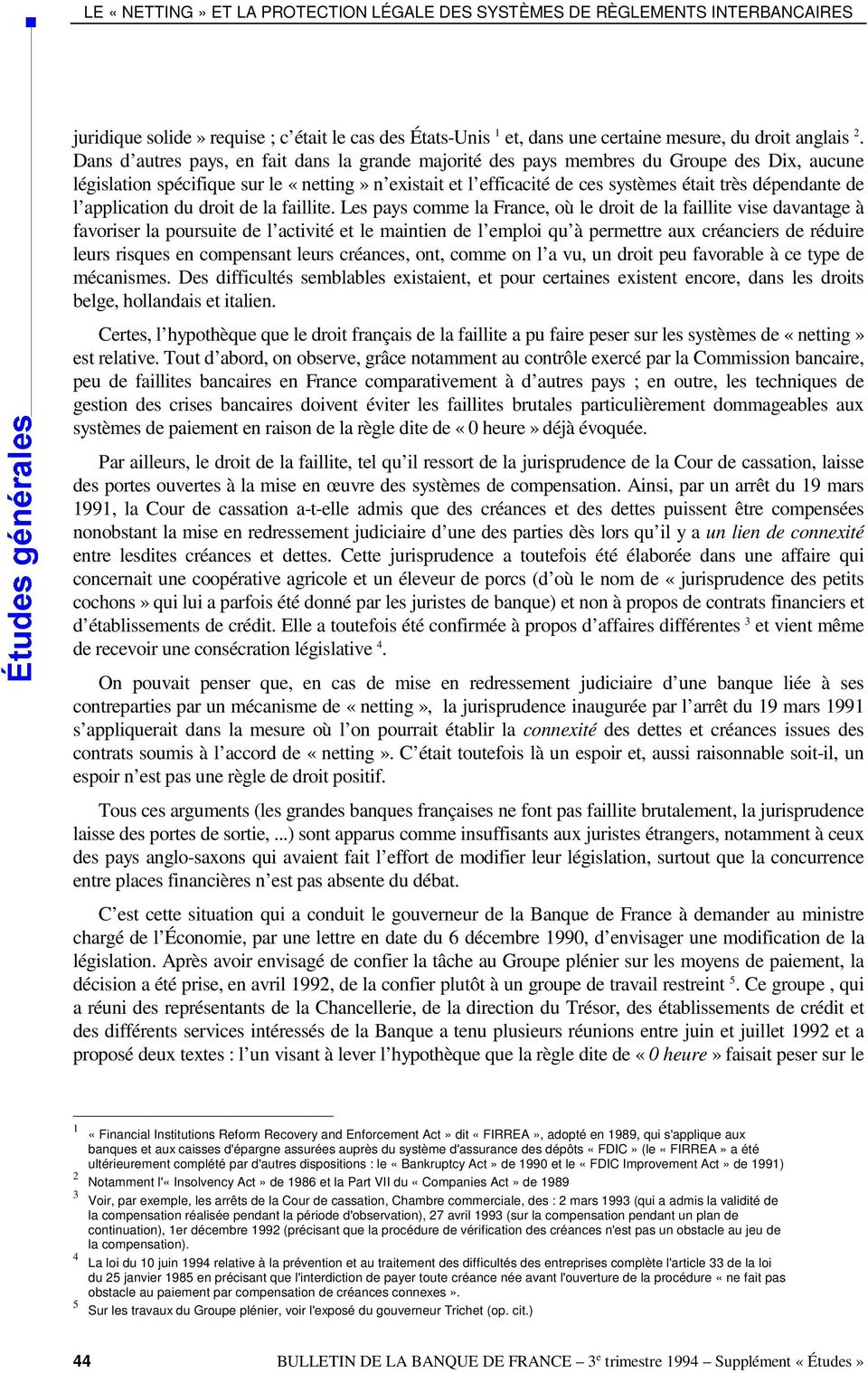 de l application du droit de la faillite.