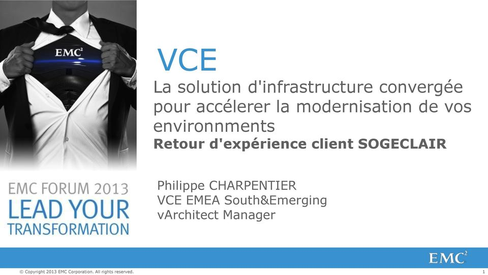 SOGECLAIR Philippe CHARPENTIER VCE EMEA South&Emerging